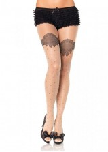 Leg Ave - Polkadot Panyhose Scalloped 1921 - OS