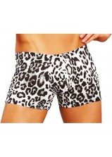 Male Power - Anaconda Pouch Short White Leopard