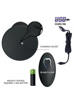Pretty Love Butt Plug Massager w Remote Control - 045W