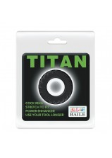 Titan Cock Ring Black - 146