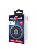 Crazy Bull Super Soft Silicone Cock Ring Black - 181