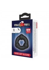 Crazy Bull Super Soft Silicone Cock Ring Black - 183