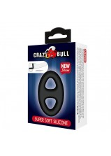 Crazy Bull Super Soft Silicone Double Cock Ring - 184