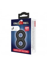 Crazy Bull Super Soft Silicone Double Cock Ring - 185
