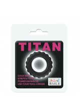 Titan Cock Ring Black - 145