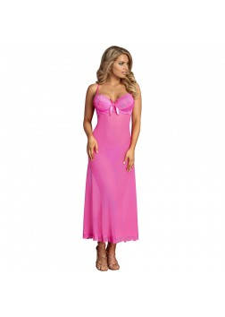 Exposed - M125 Pretty in Pink Long Gown and G-Set