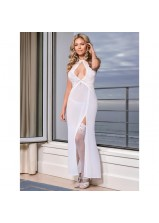 Exposed - B562 Pure Bliss Keyhole Gown and G Set White
