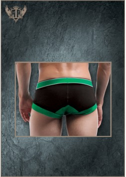 Male Power - Futbol Fullback Bikini Black/Green