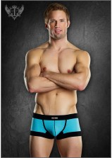 Male Power - Athletic Mesh Sport Mini Short Black/Blue