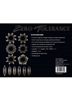 Zero Tolerance Cockstars 6pc Cock Ring Set