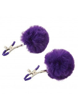 Sportsheets Sincerely Fur Nipple Clips - Purple
