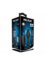 Mr Play RC Vibrating Anal Plug - 76W-MR Black