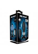 Mr Play RC Rotation Beads Anal Plug - 79W-MR Black