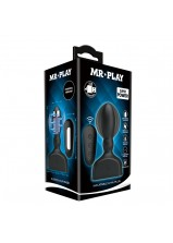 Mr Play RC Inflatable Anal Plug - 66W-MR Black