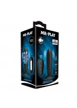 Mr Play RC Vibrating Anal Plug - 45W-MR Black