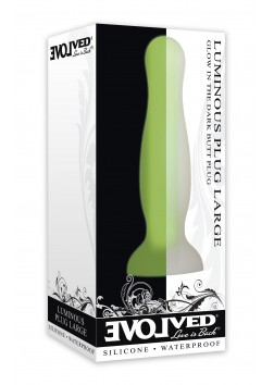 Evolved Luminous Plug Large Green - Glow in the Dark