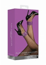 Ouch! Plush Leather Ankle Cuff - Purple