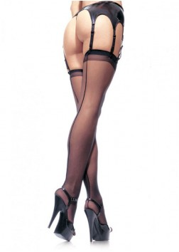 Leg Ave - Sheer Back Seam Stocking 1000 Black - OS