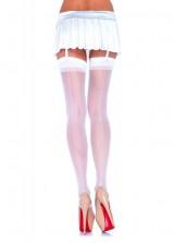 Leg Ave - Sheer Back Seam Stocking - White - OS