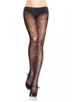 Leg Ave - Spider Lace Pantyhose Black - 9009 - OS