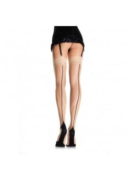 Leg Ave - Cuban Stocking Nude/Black 9213 OS