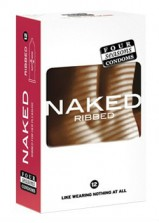 Four Seasons Naked Ribbed Condoms 12pk