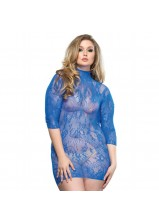 Leg Ave - Lace Mini Dress Blue 86571 - Queen