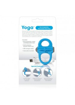 Screaming O Charged - Yoga Cockring - Blue