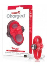 Screaming O Charged - Yoga Cockring - Red