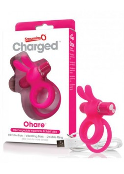 Screaming O Charged - Ohare Cockring - Pink