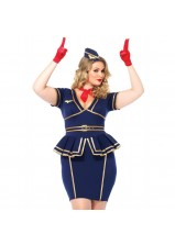 Leg Ave - Friendly Skies Flight Attendant Plus Size 85332